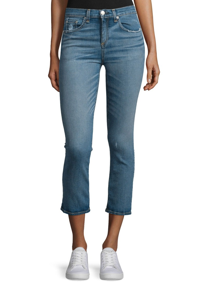 rag & bone/JEAN Mid-Rise Cropped Jeans