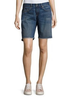 rag & bone/JEAN Mid-Rise Denim Boyfriend Cutoff Shorts