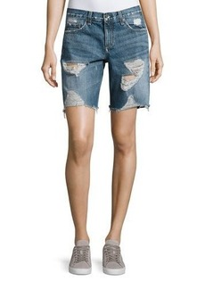 rag & bone/JEAN Mid-Rise Denim Walking Shorts