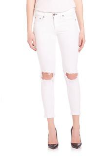 rag & bone/JEAN Mid-Rise Distressed Skinny Jeans
