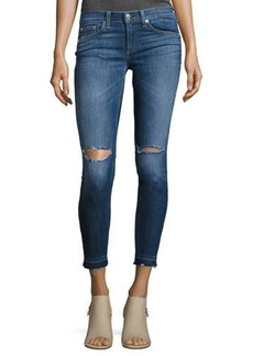 rag & bone/JEAN Mid-Rise Skinny Capri Jeans with Released Hem