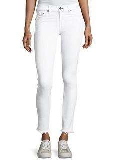 rag & bone/JEAN Mid-Rise Skinny-Leg Frayed Hem Jeans
