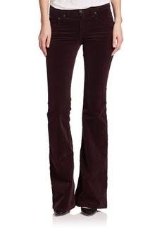 rag & bone/JEAN Mid-Rise Stretch Corduroy Flared Jeans