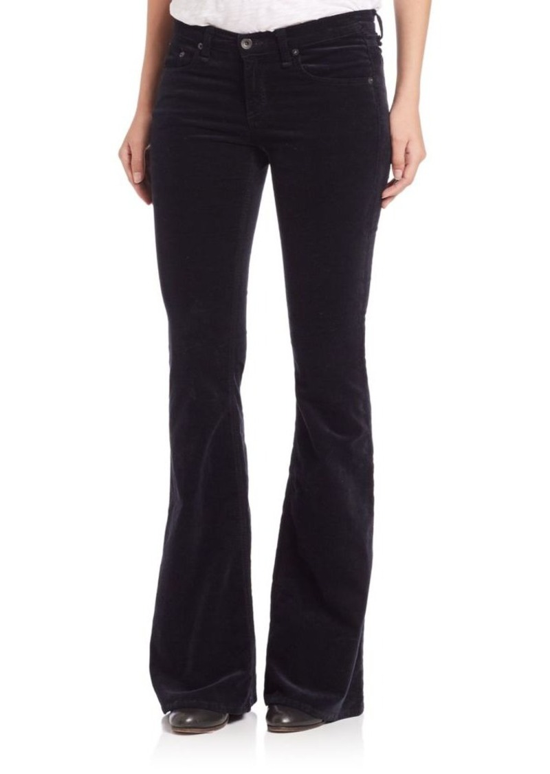 rag & bone/JEAN Mid-Rise Velvet Flared Jeans