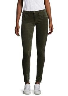 rag & bone/JEAN Mid-Rise Velvet Skinny Jeans