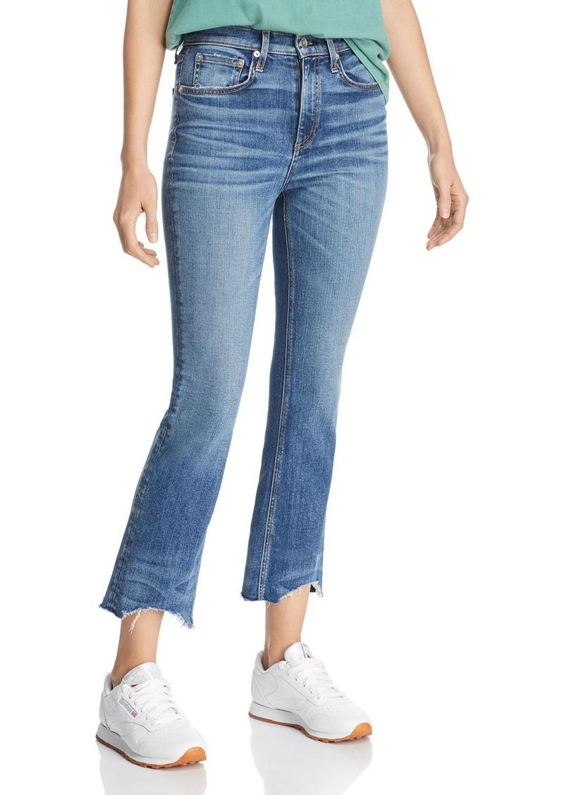 rag & bone Nina Ankle Flared Jeans in Clean Doric