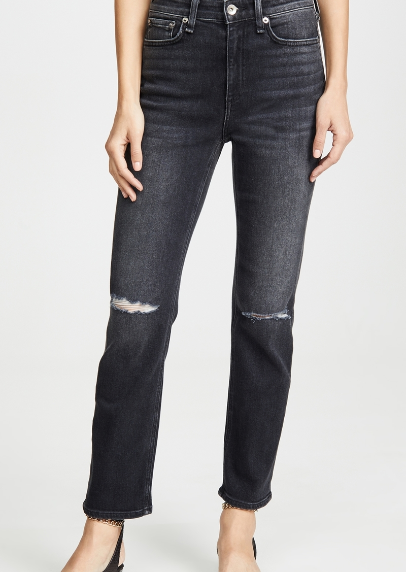 Rag & Bone/JEAN Nina High-Rise Ankle Cigarette Jeans