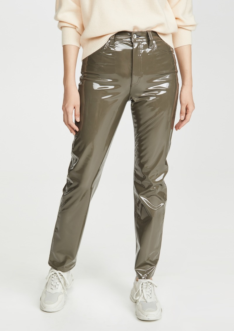 Rag & Bone/JEAN Nina High Rise Cigarette Vinyl Pants