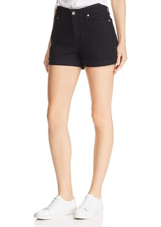 rag & bone Nina High-Rise Denim Shorts in Coal