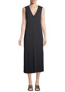 Rag & Bone Phoenix V-Neck Sleeveless Midi Shift Dress
