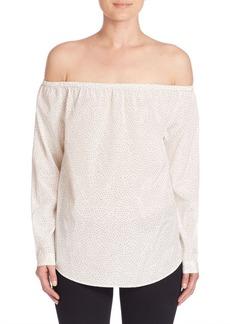 rag & bone/JEAN Polka Dot Off-The-Shoulder Blouse