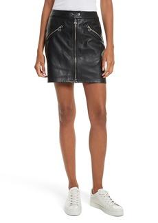 rag & bone/JEAN Racer Leather Miniskirt