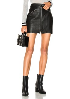 rag & bone/JEAN Racer Leather Skirt