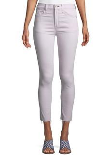 Rag & Bone Raw-Edge High-Rise Ankle Skinny Jeans