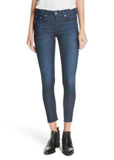 rag & bone Raw Hem Ankle Skinny Jeans (Tonal River)