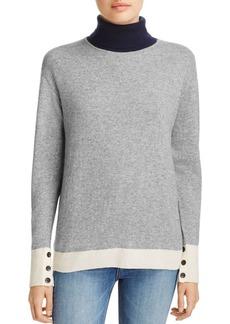 rag & bone/JEAN Rhea Color-Block Wool & Cashmere Turtleneck