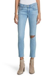 rag & bone/JEAN Ripped Ankle Skinny Jeans (Lena)