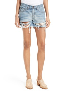 rag & bone/JEAN Ripped Boyfriend Shorts (Rye)