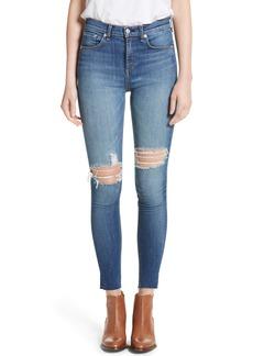 rag & bone/JEAN Ripped High Waist Skinny Jeans (Bonnie)
