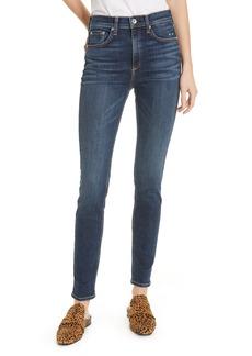 rag & bone Ripped High Waist Skinny Jeans (Elton)