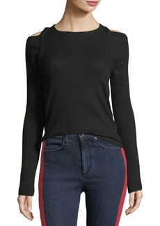 rag & bone/JEAN Rosalind Crewneck Long-Sleeve Rib-Knit Sweater