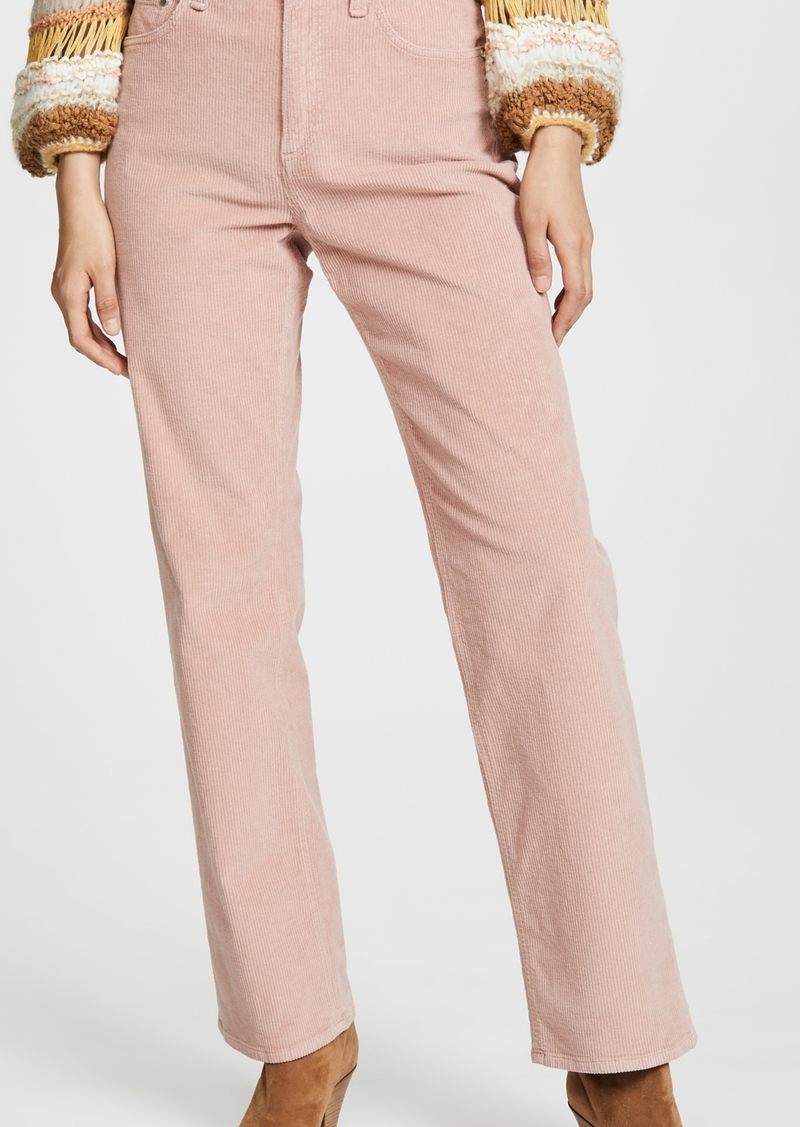 Rag & Bone/JEAN Ruth Super High Rise Straight Cord Pants