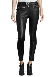 Ryder Leather Skinny Jeans