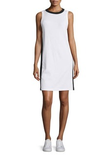 rag & bone/JEAN Sam Stripe-Trim Jersey Shift Dress