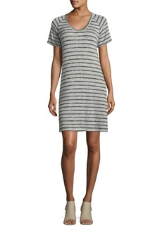rag & bone/JEAN Scoop-Neck Raglan Striped Dress