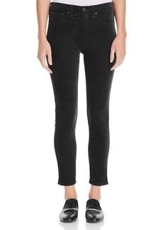 rag & bone/JEAN Skinny Ankle Jeans in Black Velvet