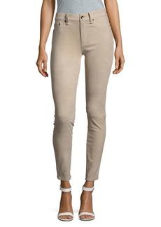 rag & bone/JEAN Skinny-Fit Leather Suede Pants