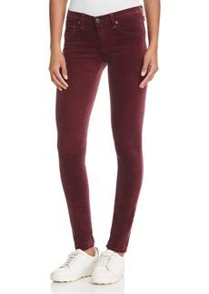 rag & bone/JEAN Skinny Jeans in Burgundy Velvet