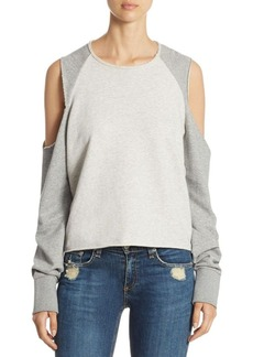 rag & bone/JEAN Slash Cold Shoulder Sweatshirt
