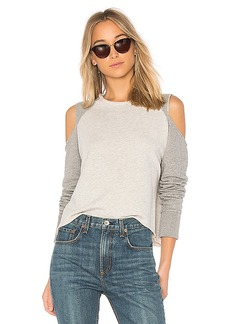 rag & bone/JEAN Slash Sweatshirt in Gray. - size L (also in M,S,XS)