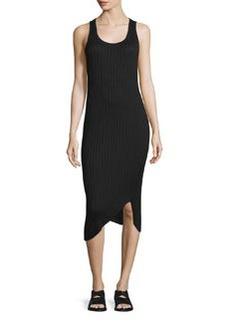 rag & bone/JEAN Sleeveless Ribbed Midi Dress