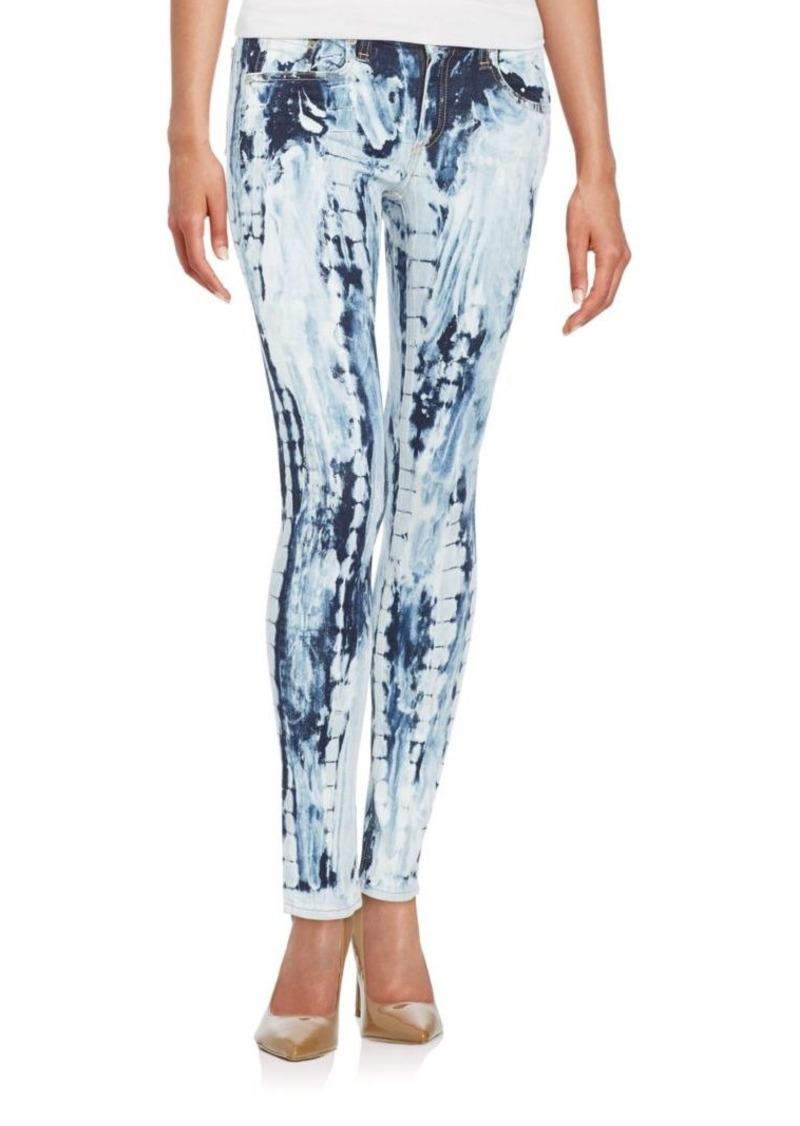 rag & bone/JEAN Splash Tie-Dyed Skinny Jeans