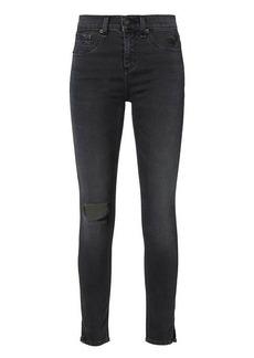 Rag & Bone/JEAN Steele Slit 10 Inch Capri Jeans