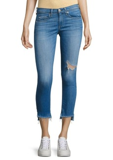 rag & bone/JEAN Step Hem Distressed Capri Skinny Jeans/Sunset