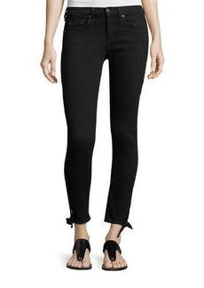 rag & bone/JEAN Steve Mid-Rise Capri Jeans W/ Tie-Hem Detail