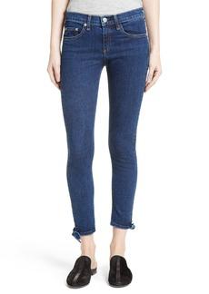rag & bone/JEAN Stevie Tie Hem Capri Skinny Jeans