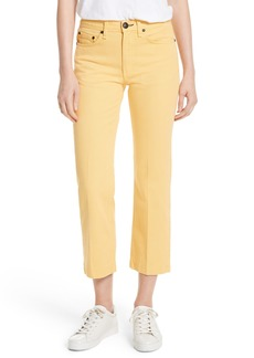 rag & bone/JEAN Straight Leg Crop Jeans (Sunrise)