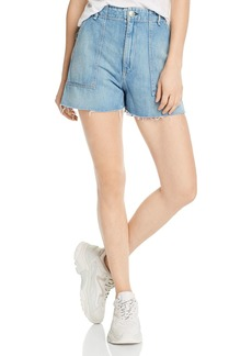rag & bone Super High-Rise Army Denim Shorts in Clean Frant