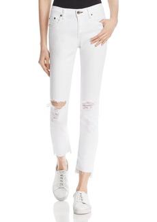 rag & bone/JEAN The Dre Slim Boyfriend Crop Jeans in White Prospector