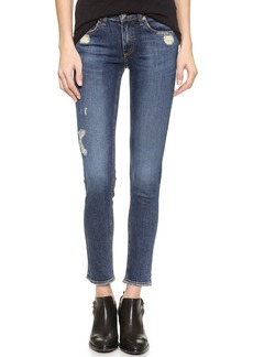 Rag & Bone/JEAN The Frayed Skinny Jeans