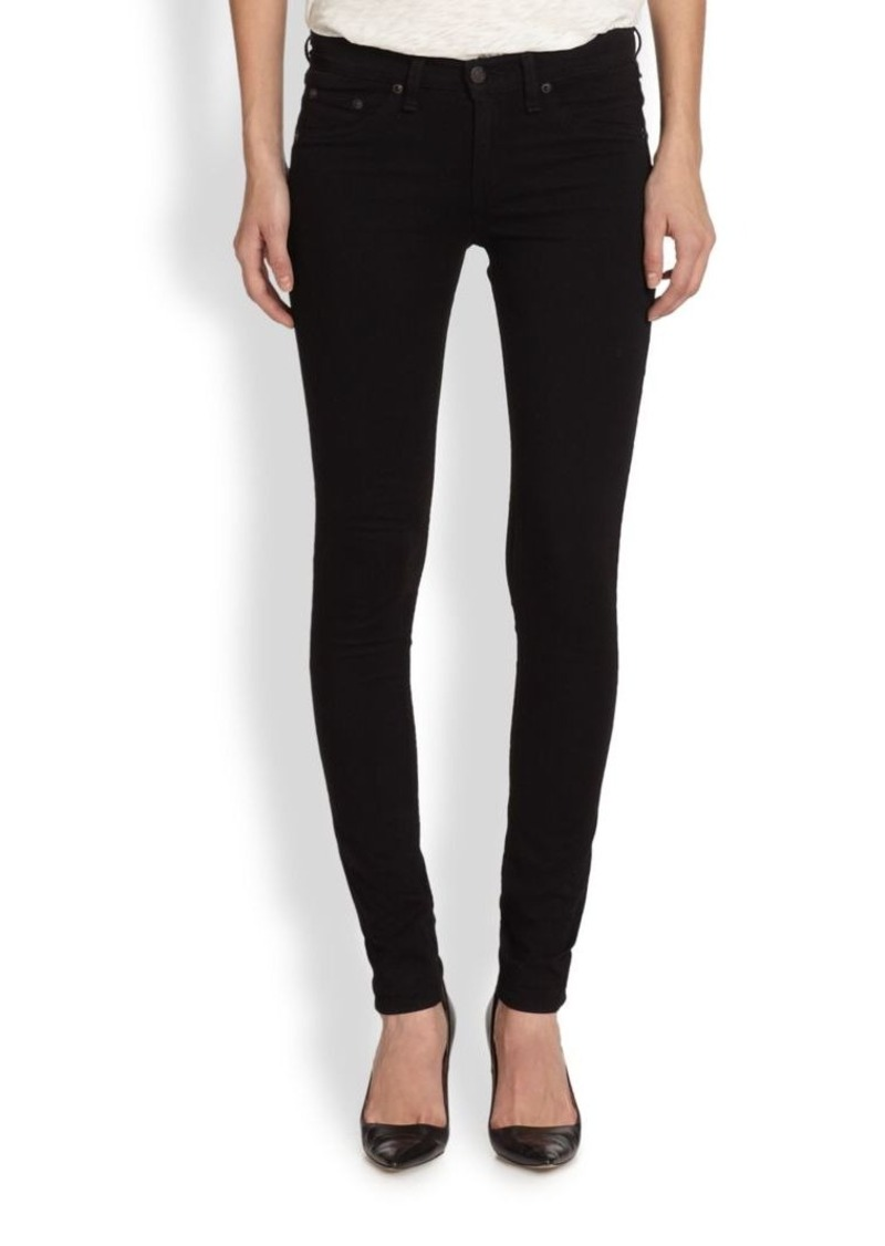 rag & bone/JEAN The Mid-Rise Leggings/Black Plush
