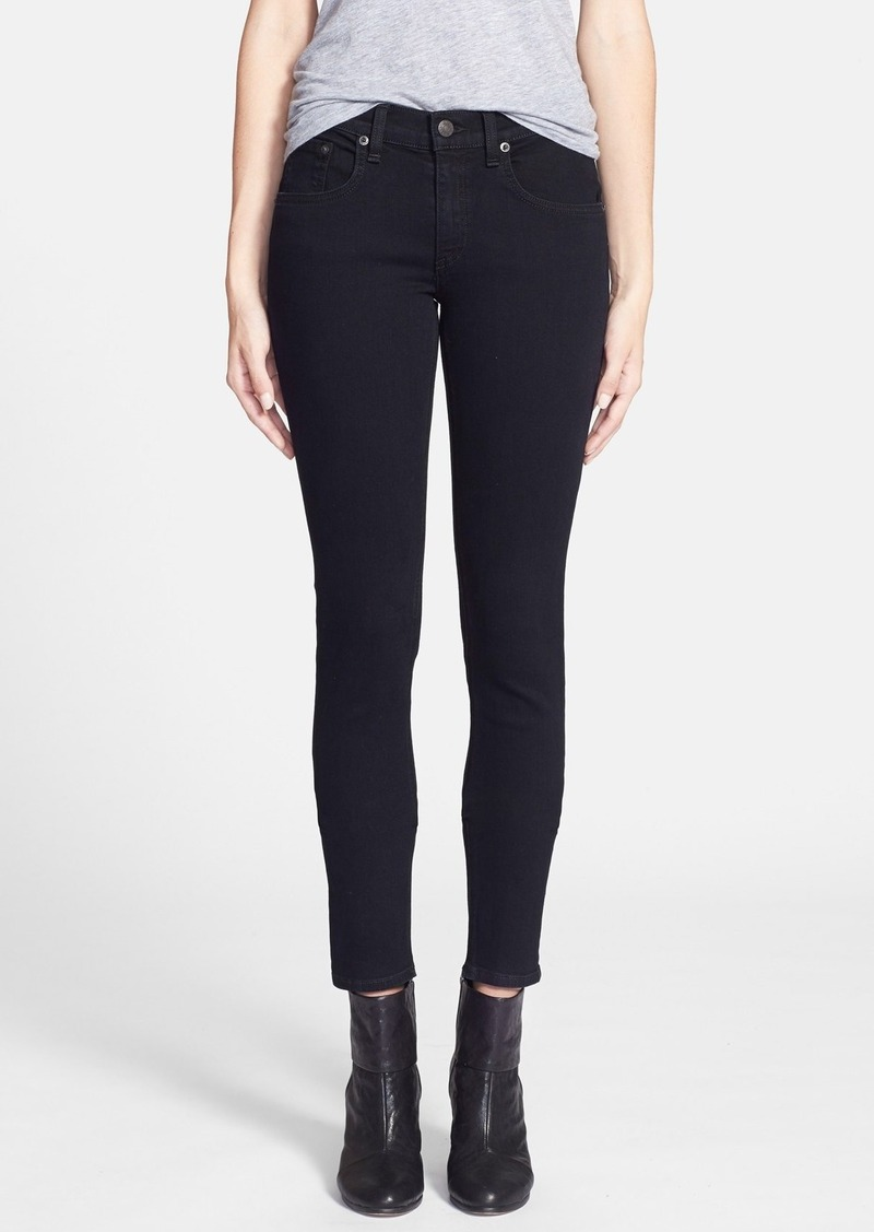 rag & bone 'The Skinny' Stretch Jeans (Coal)