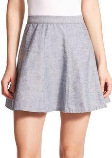rag & bone The Suki Chambray Mini Skirt