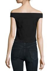 rag & bone/JEAN Thermal Off-the-Shoulder Crop Top