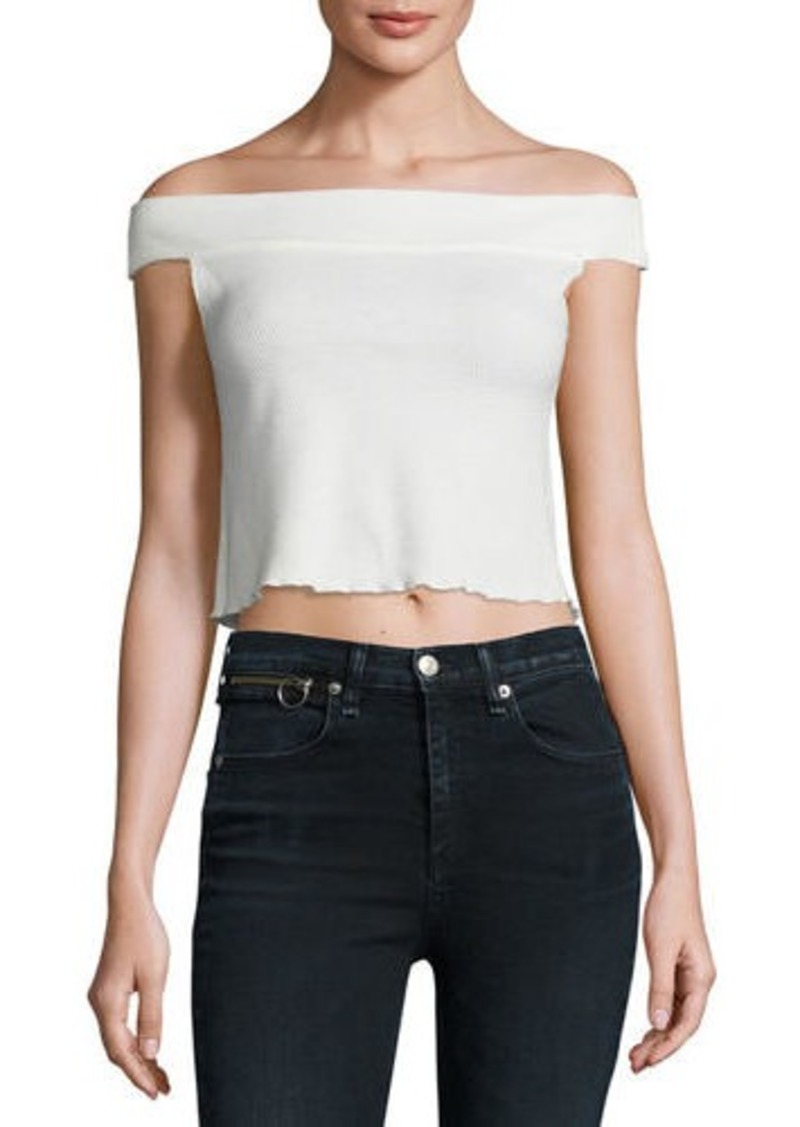 Rag & Bone Thermal Off-the-Shoulder Crop Top
