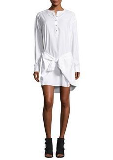 rag & bone/JEAN Tie-Waist Poplin Shirtdress